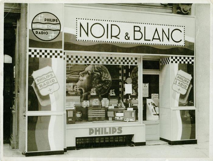 Magasin Haute-Fidélité Noir et Blanc en 1933